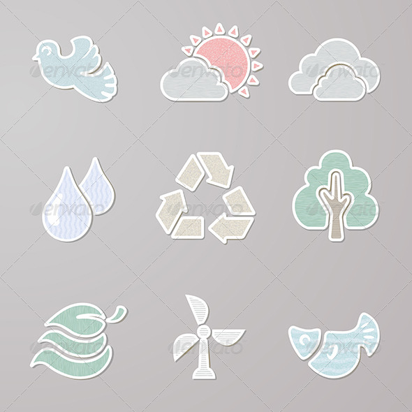GraphicRiver Sticker Nature Set 6421691