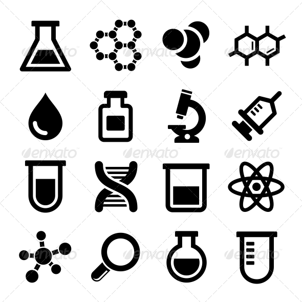 GraphicRiver Chemical Icons Set 6421755