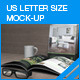 US Letter Size Magazine Mock-up - GraphicRiver Item for Sale