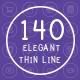 140 Elegant Thin Line Icons