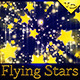 Flying Stars Festive Backgrounds - GraphicRiver Item for Sale
