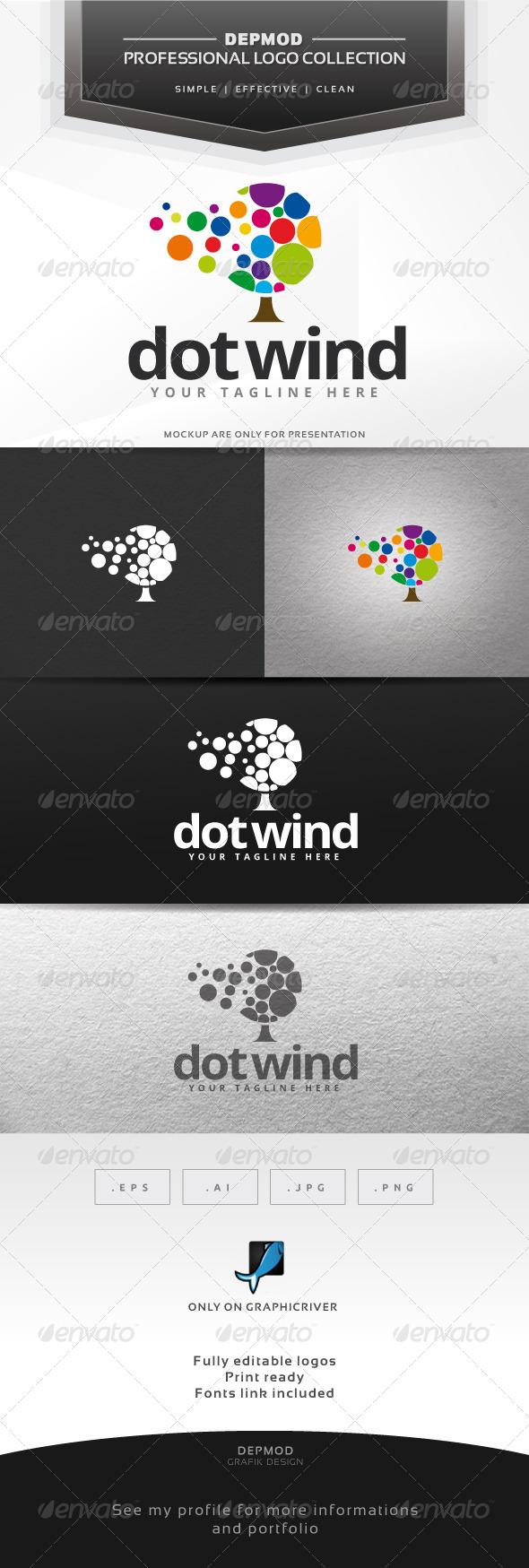 GraphicRiver Dot Wind Logo 6423093