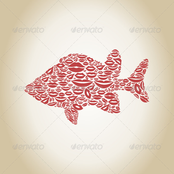 Fish a lip - Stock Photo - Images