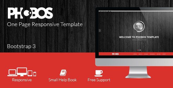 ThemeForest Phobos One Page Responsive Template 6118382