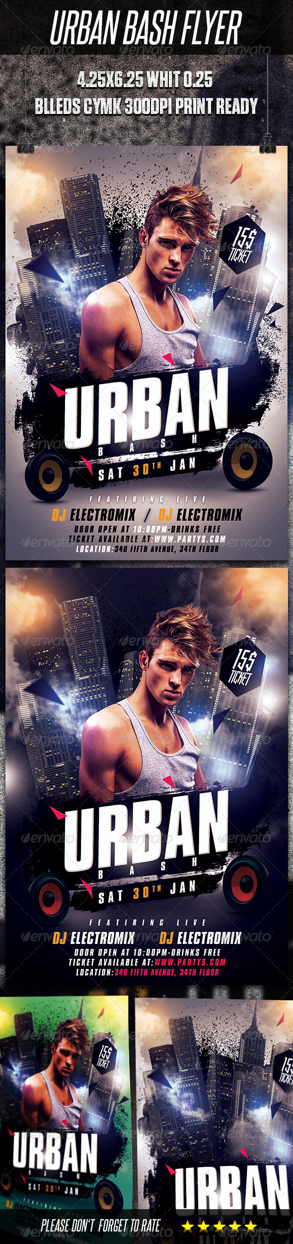 GraphicRiver Urban Bash Flyer Template 6423257