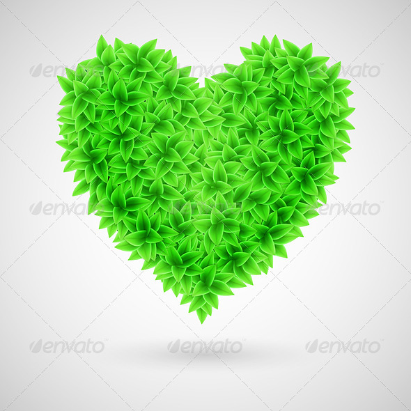 GraphicRiver Green Heart 6423674