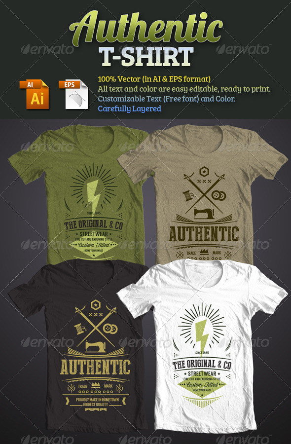 GraphicRiver Authentic T-Shirt 6424032