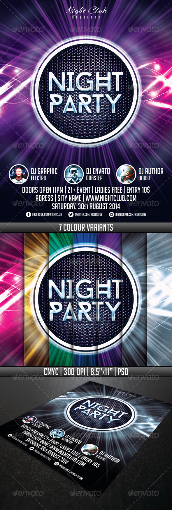 GraphicRiver Night Party Flyer Template 6388952