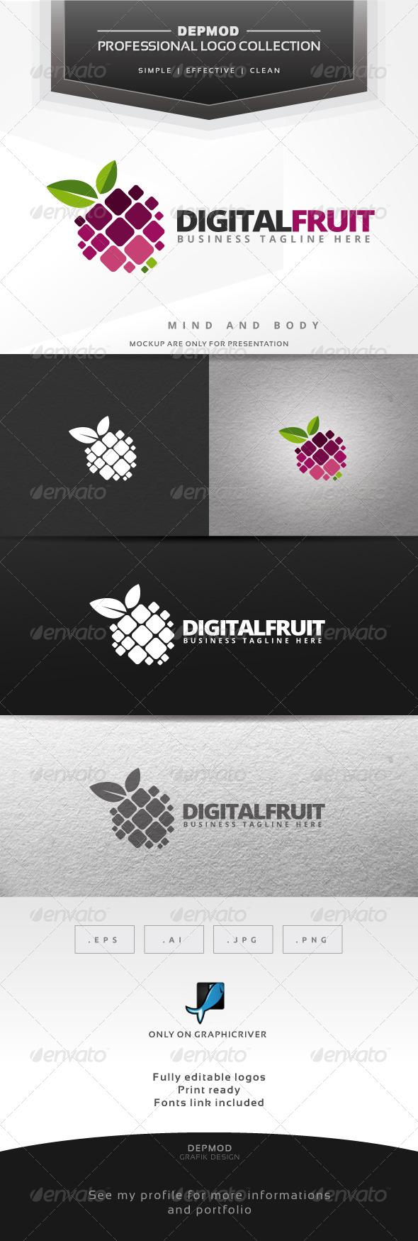 GraphicRiver Digital Fruit Logo 6424359