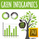 Green Infographics - GraphicRiver Item for Sale