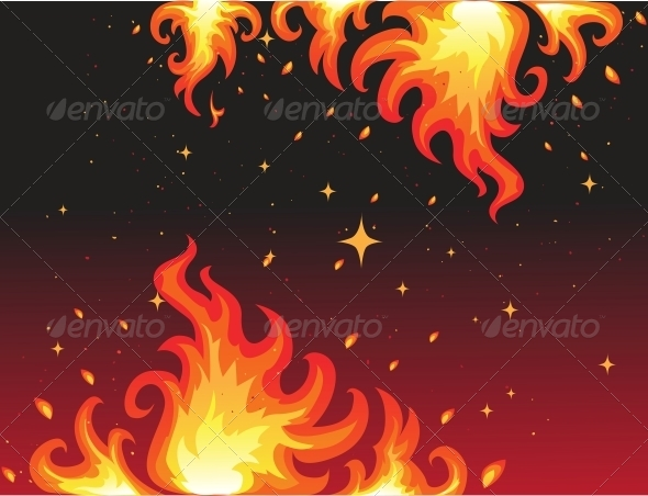 GraphicRiver Hot Fire Background Banner 6424639