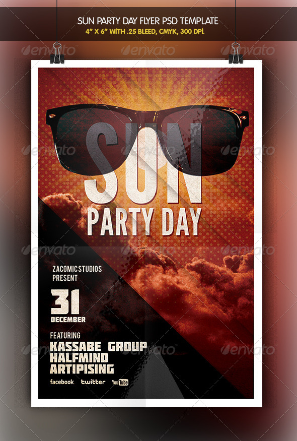 GraphicRiver Sun Party Flyer Template 6424764