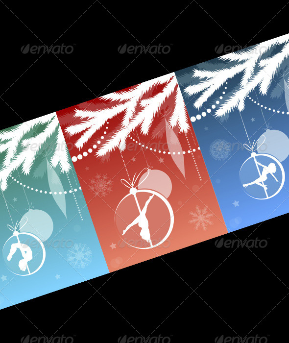 GraphicRiver Christmas Tree with Pole Dancing Ornament 6424809