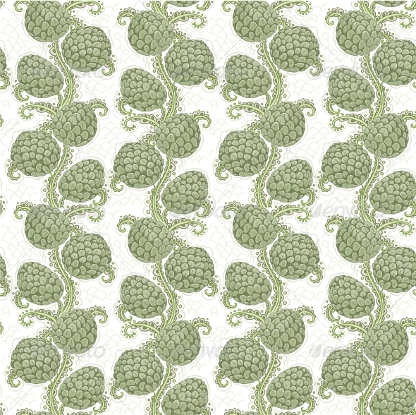 GraphicRiver Seamless Decorative Pattern of Hop Cones 6424887