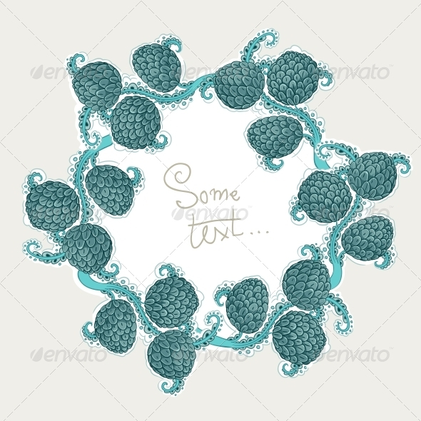 GraphicRiver Decorative Frame of Hop Cones 6424889