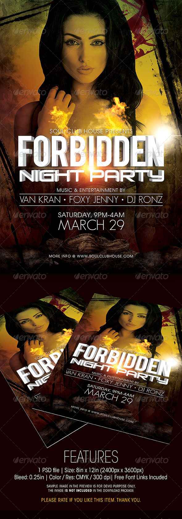 GraphicRiver Forbidden Night Party Flyer 6425219