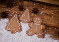 Gingerbread man, winter setting - PhotoDune Item for Sale
