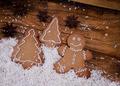 Gingerbread man, winter setting - PhotoDune Item for Sale