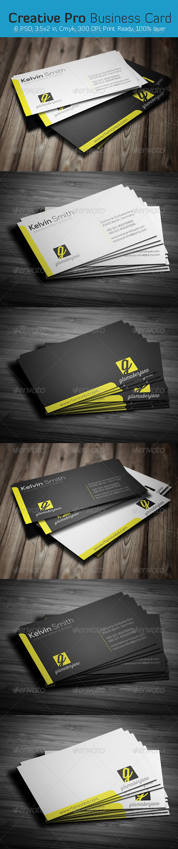 GraphicRiver Creative Pro Business Card 6425386