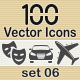 100 Vector Icons - GraphicRiver Item for Sale