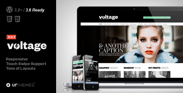 Voltage Creative Responsive WordPress Theme - Portfolio Creative