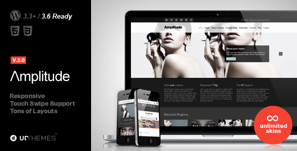 Amplitude Responsive Multipurpose WordPress Theme - Corporate WordPress