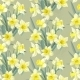Seamless Vintage Pattern Yellow Daffodils - GraphicRiver Item for Sale