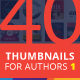 40 Cool Thumbnail Templates for Authors VOL1 - GraphicRiver Item for Sale