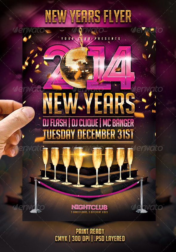 New years flyer - events flyers