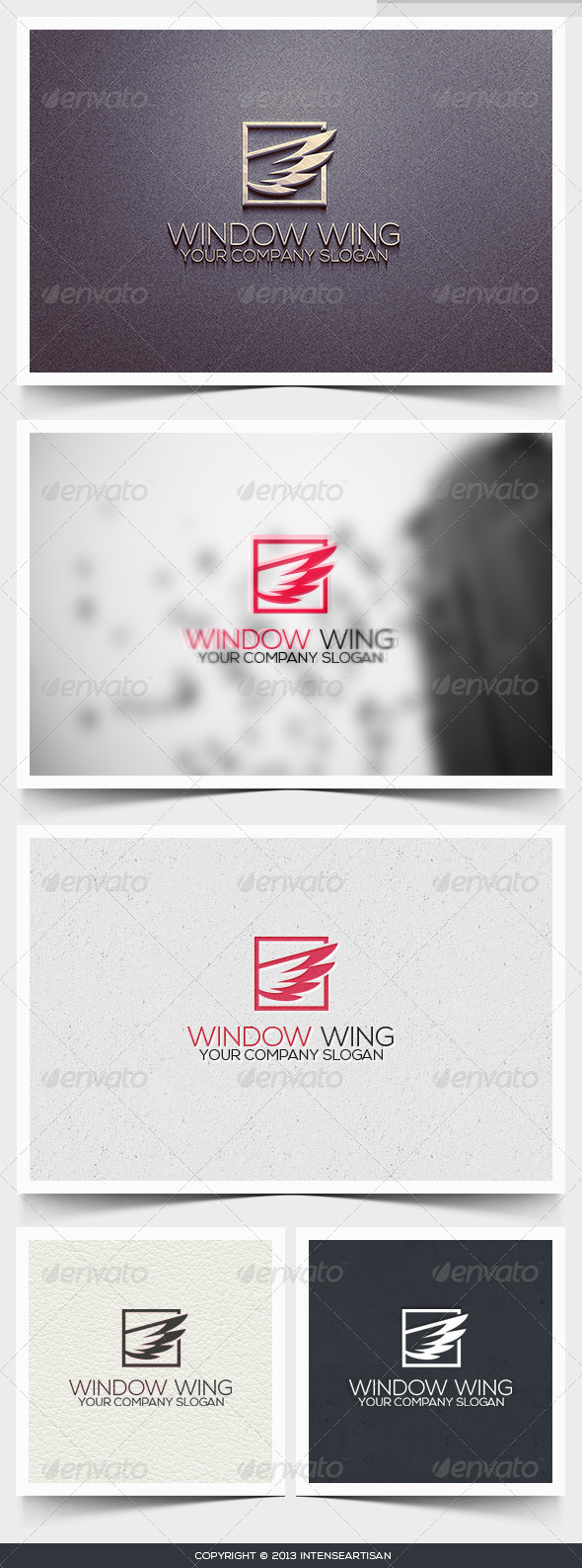 Window Wing Logo Template - Objects Logo Templates