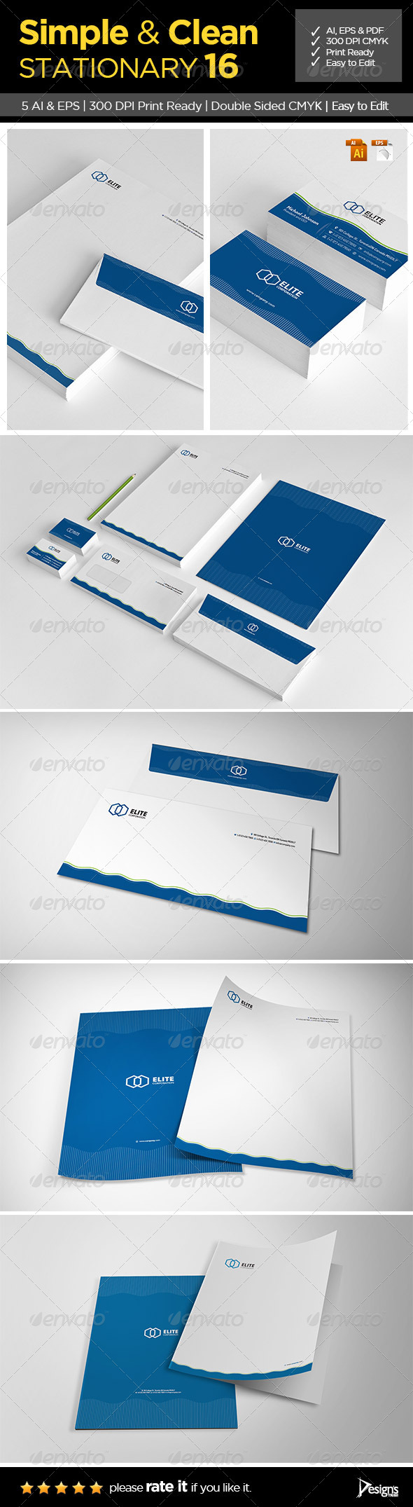 GraphicRiver Simple and Clean Stationary 16 6426728