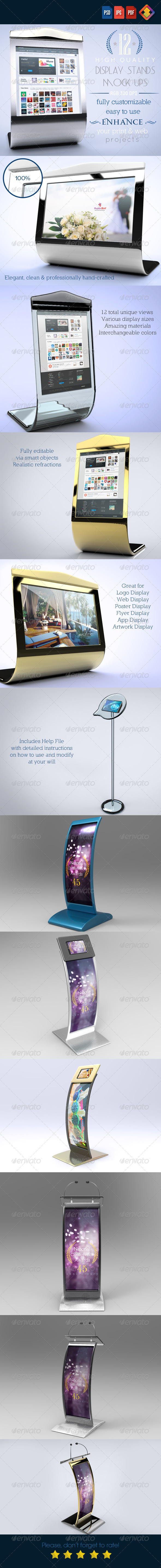 GraphicRiver 12 Luxury Display Stands Mock-Ups V.1 6426764