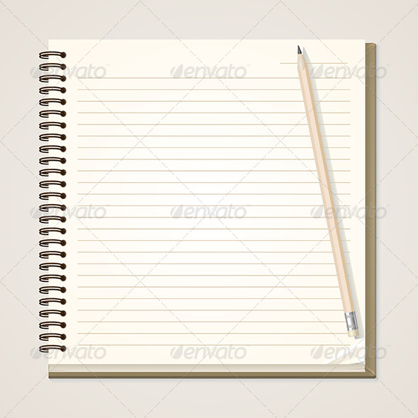 GraphicRiver Paper Notebook and Pencil 6426765