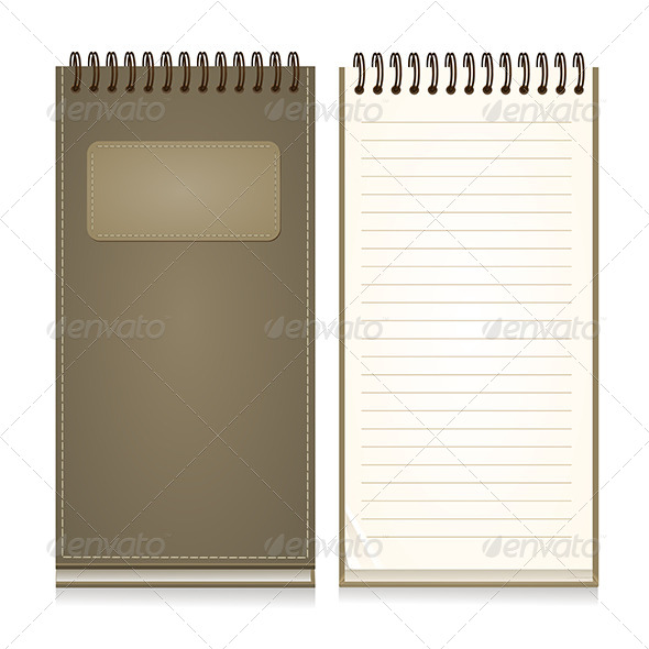 GraphicRiver Paper Notebook Front Cover 6426809