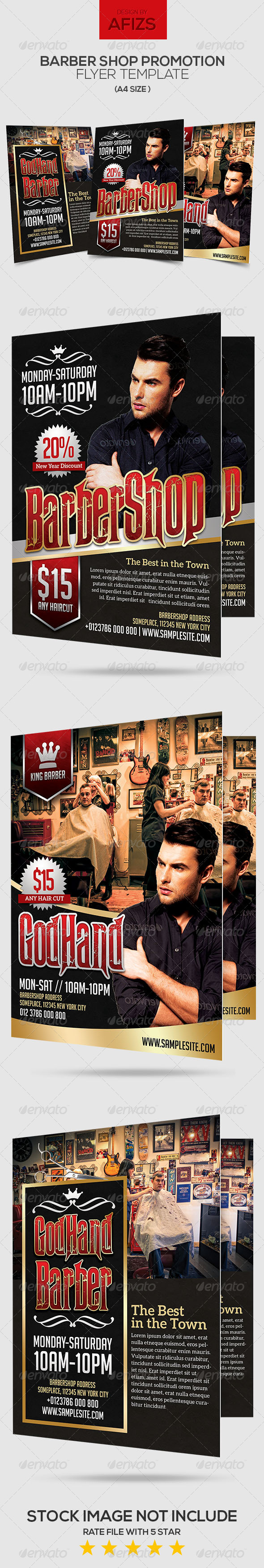 GraphicRiver Barber Shop Promotion Flyer 6426882