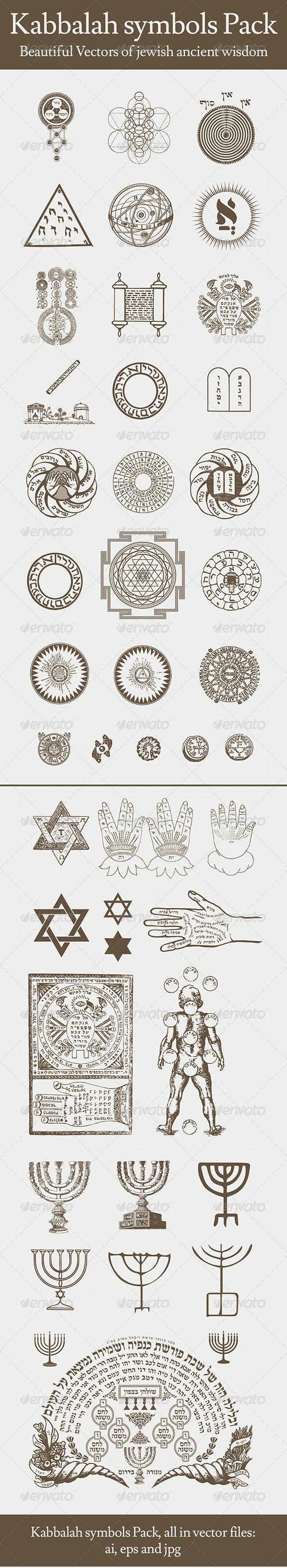 GraphicRiver Kabbalah Symbols Pack 6427735
