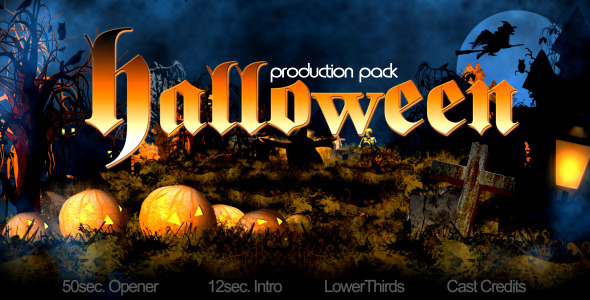 After Effects Project - VideoHive halloween production pack 671061
