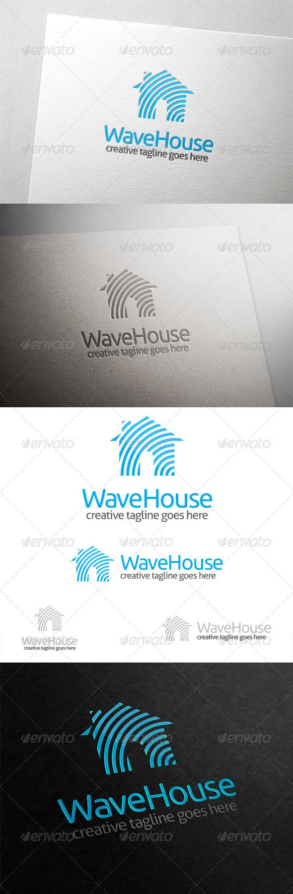 GraphicRiver Wave House Logo 6428660