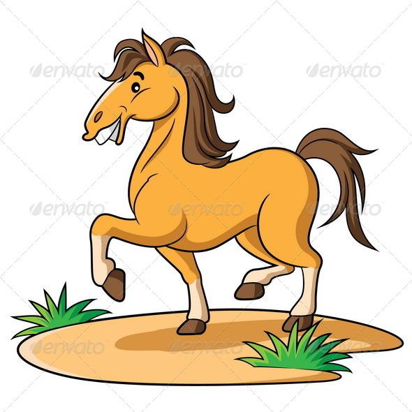 GraphicRiver Horse Cartoon 6428994