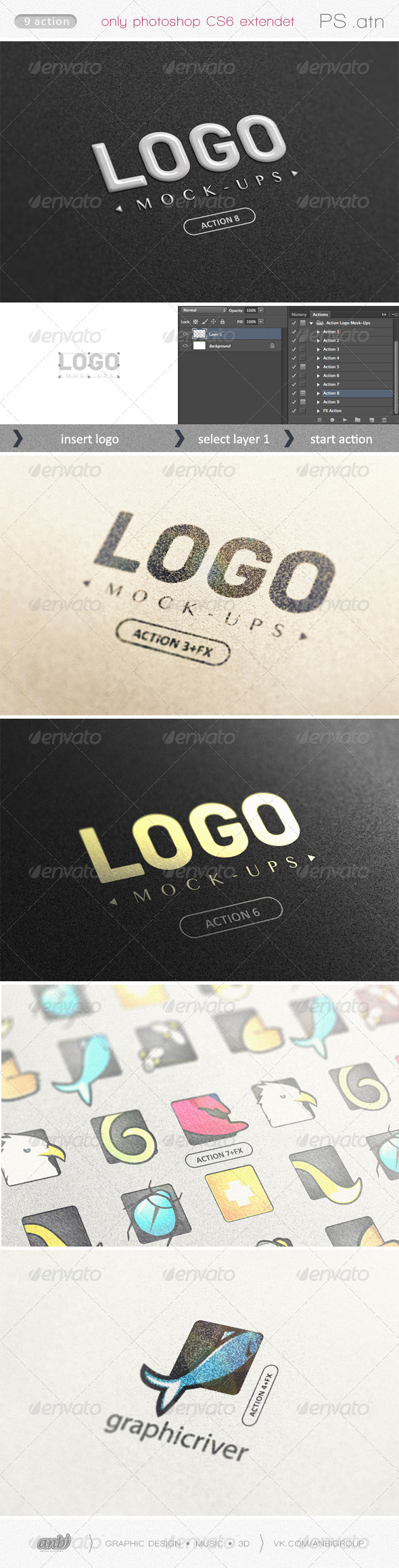 GraphicRiver Action Logo Mock-Ups 6429189
