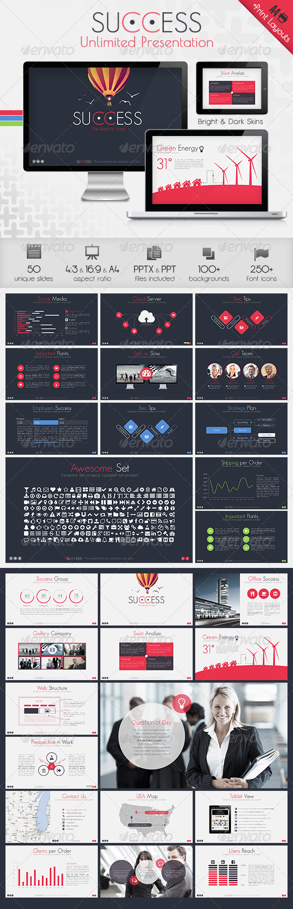 GraphicRiver Success Powerpoint Presentation Template 6429193