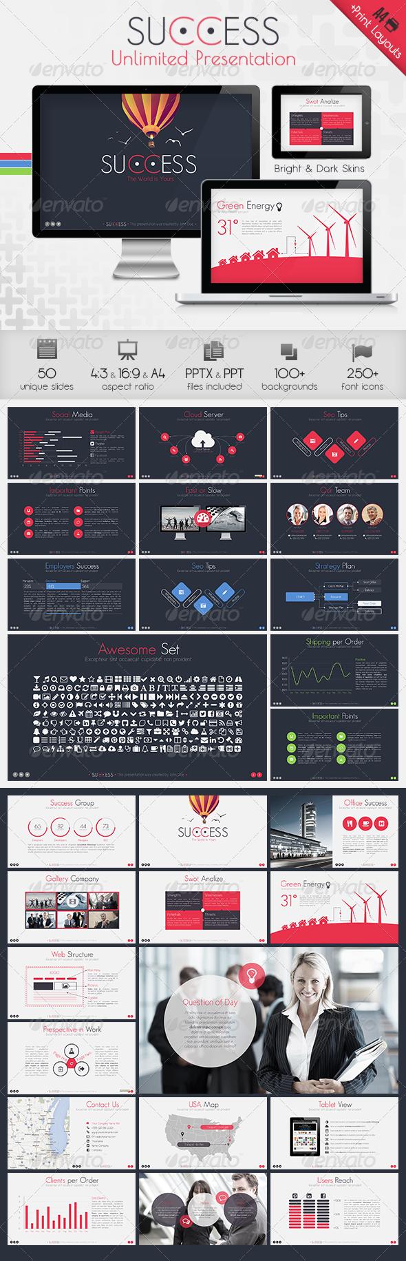 GraphicRiver Success Powerpoint Presentation Template 6429193