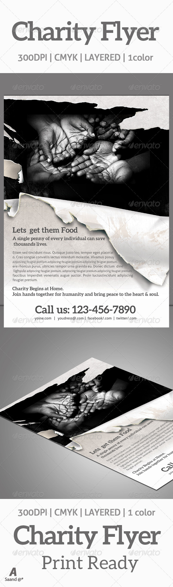 GraphicRiver Charity & Donation Flyer 6430370