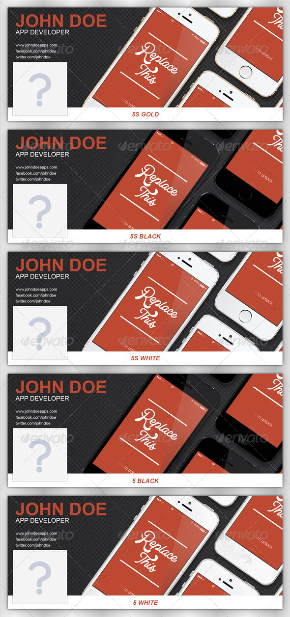 GraphicRiver App Developer Phone Facebook Timeline Cover 6401237