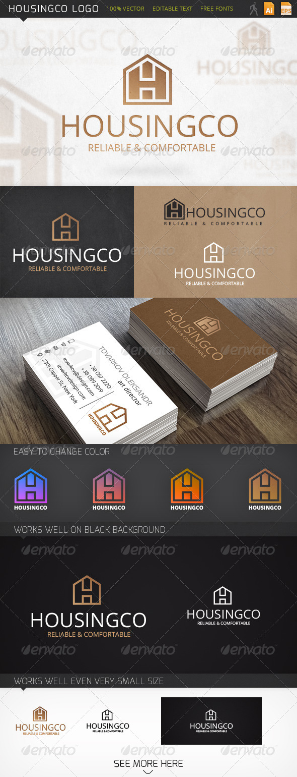 GraphicRiver Housingco Logo 6432244