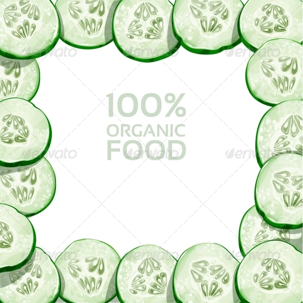 GraphicRiver Frame from Slices of Fresh Cucumber 6432289