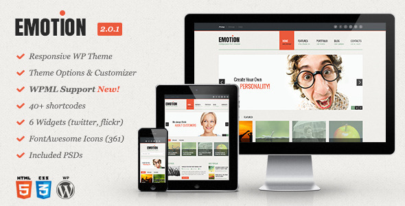 Emotion - Responsive WordPress Theme - Portfolio Creative