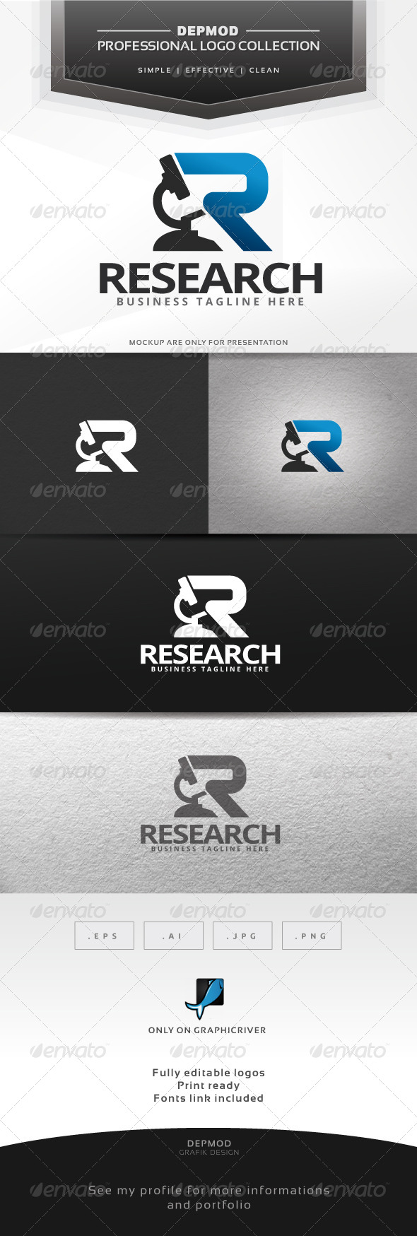 GraphicRiver Research Logo 6432668