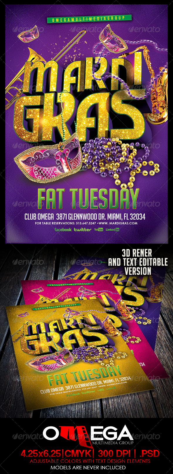 GraphicRiver Mardi Gras Vol I 6433099