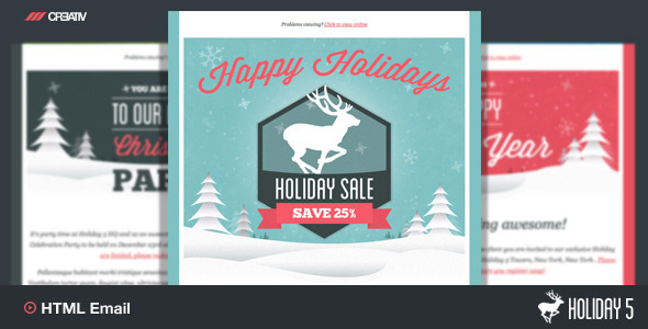 Holiday 5 - Responsive Email Template - Email Templates Marketing